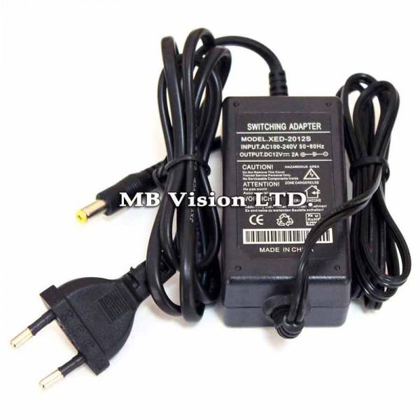 Аксесоари - Захранващ адаптер 12V, 2A за камери за видеонаблюдение